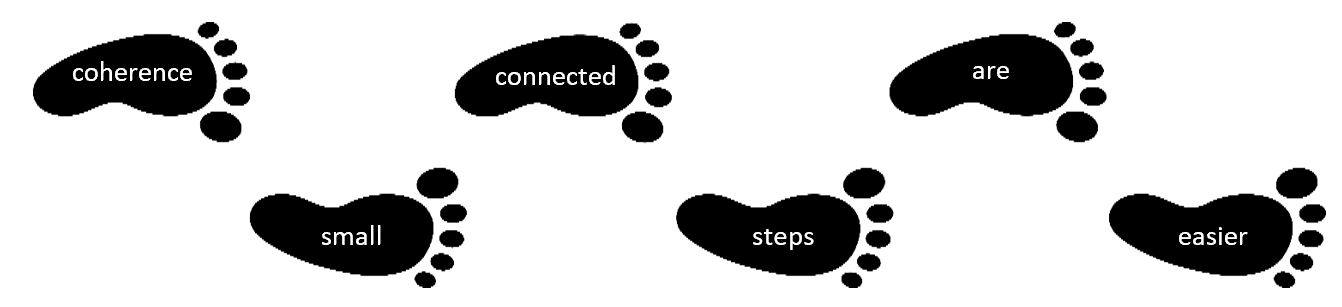 connected steps