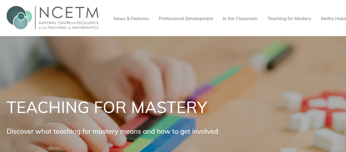 NCETM Website Mastery Area - Recently updated