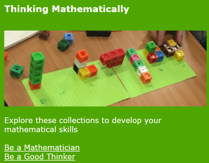 The NRICH website has a wealth of resources to aid and further develop mathematical thinking and learning.  Definitely worth exploring.