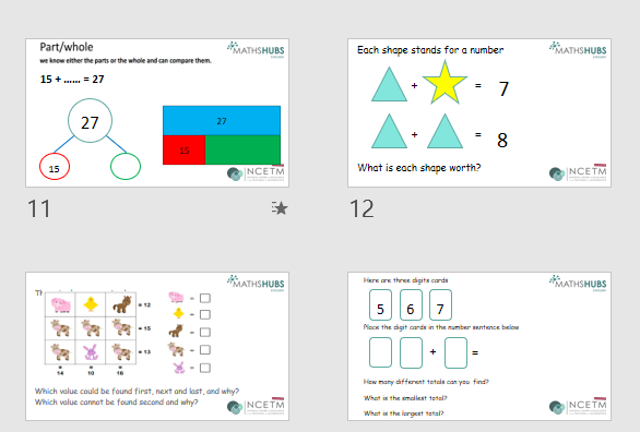Mathematical thinking with addition and subtraction - some ideas to try