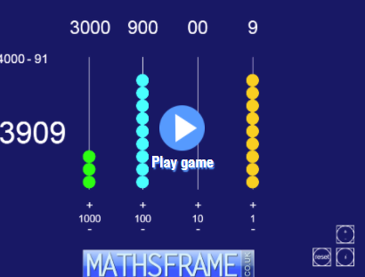 Interactive teaching programme - Beadsticks Mathsframe