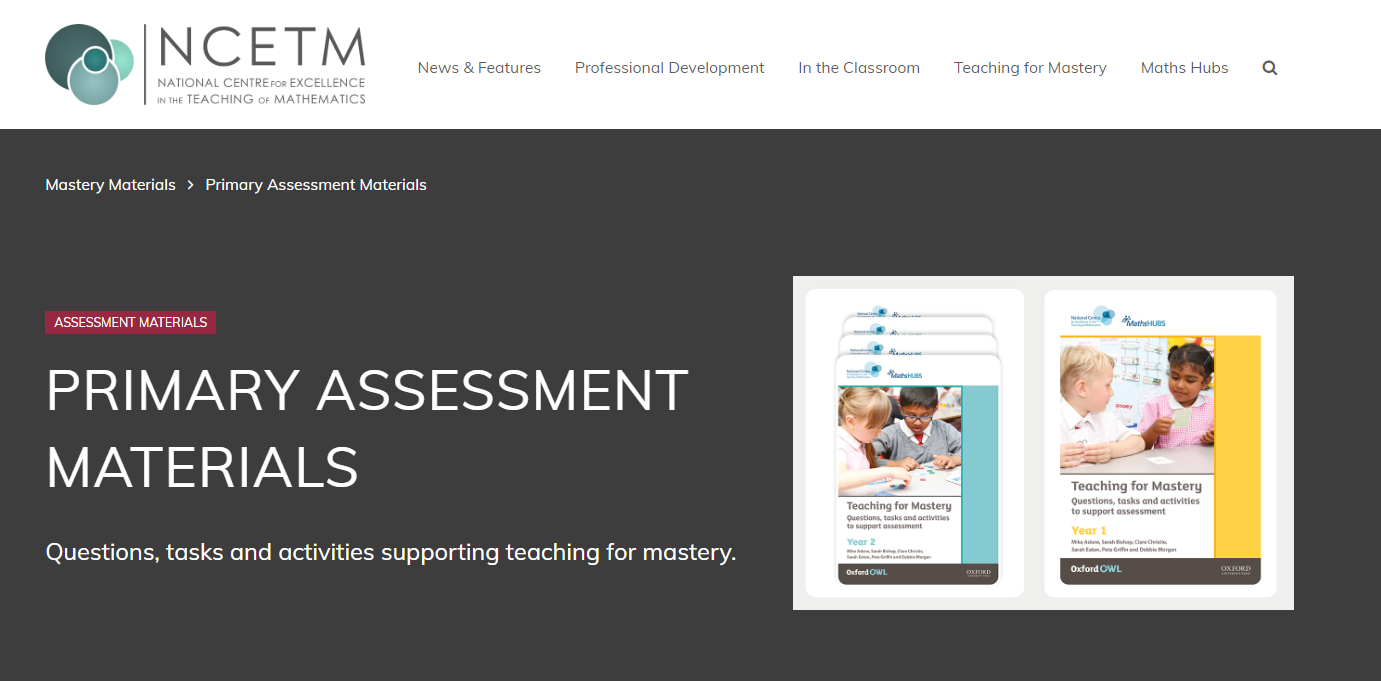 Primary Assessment Materials - NCETM - Useful for developing depth in learning